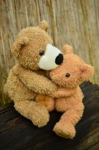 sich tröstende Bären