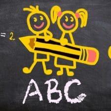 Tafel mit ABC