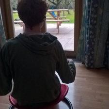Niklas auf Sitzkreisel