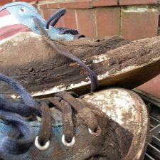 dreckige Schuhe