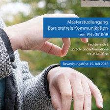 Poster Masterstudiengang