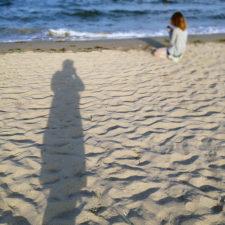 Schattenbild am Strand