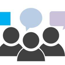 Pictogramm sprechende Menschen