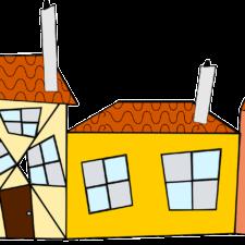 Häuser nebeneinander
