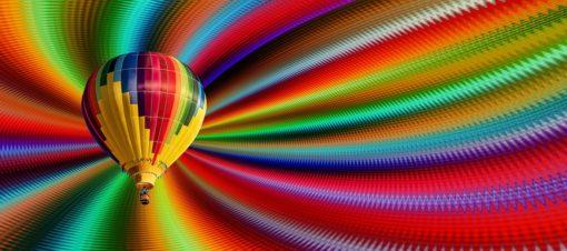 Ballon mit Farbspektrum