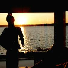 Niklas vor dem Sonnenuntergang