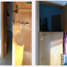 umgebaute Tür