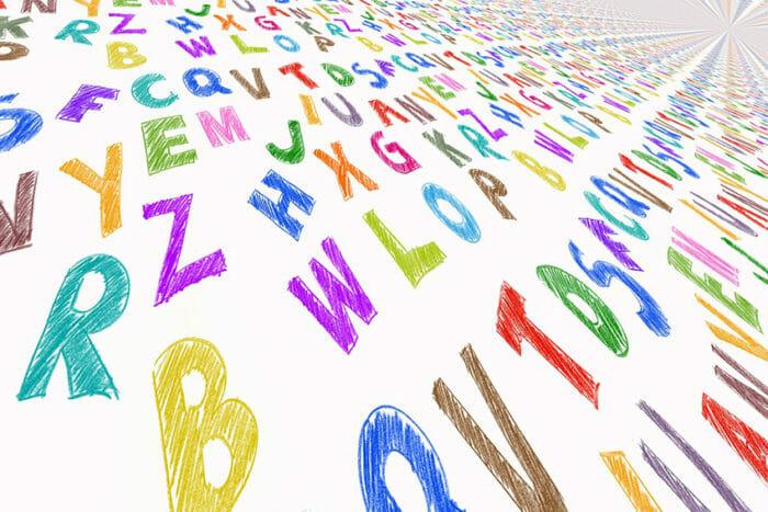 BIld mit vielen Buchstaben