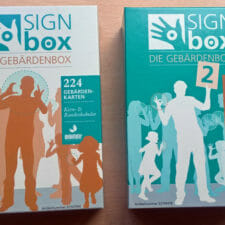 Bild der beiden Signboxen zu Gebärdensprache