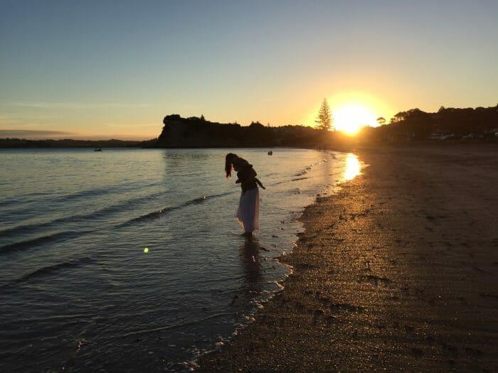 Bild von Sarah am Strand